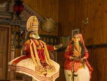 Το Katakali παρουσιάζει στην Ινδία Στοκ Εικόνα