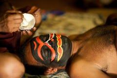 Το Kathakali παρουσιάζει Στοκ Φωτογραφίες