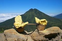 Το Kawa το ηφαίστειο στοκ εικόνες