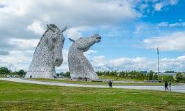 Το Kelpies ένα θερινό απόγευμα, Falkirk, Σκωτία στοκ εικόνα
