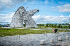Το Kelpies ένα θερινό απόγευμα, Falkirk, Σκωτία στοκ εικόνες