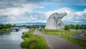 Το Kelpies ένα θερινό απόγευμα, Falkirk, Σκωτία στοκ φωτογραφία
