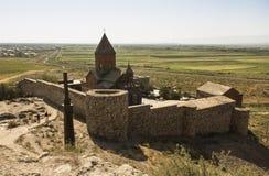 Το Khor Virap το βαθύ μπουντρούμι είναι ένα αρμενικό μοναστήρι τοποθετημένο Στοκ Φωτογραφία