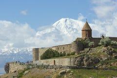 Το Khor Virap είναι ένα αρμενικό μοναστήρι, που βρίσκεται στο Ararat Στοκ Εικόνα