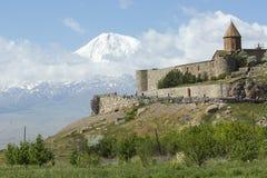 Το Khor Virap είναι ένα αρμενικό μοναστήρι, που βρίσκεται στο Ararat Στοκ Εικόνες