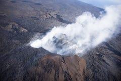 Το Kilauea απειλεί τα σπίτια της Χαβάης Στοκ φωτογραφία με δικαίωμα ελεύθερης χρήσης