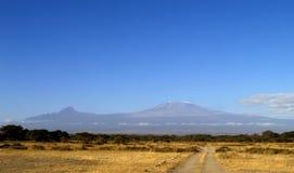 το kilimanjaro επικολλά Στοκ Εικόνα