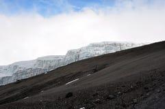 το kilimanjaro παγετώνων επικολλά στοκ εικόνα