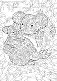 Το koala Zentangle αντέχει ελεύθερη απεικόνιση δικαιώματος