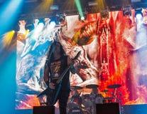 Το Kreator εκτελεί ζωντανό στο φεστιβάλ Σαββατοκύριακου ατλάντων στο Κίεβο, Ουκρανία Στοκ Εικόνες