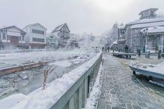 Το Kusatsu Onsen είναι ένα καυτό θέρετρο άνοιξη που βρίσκεται σε Gunma Prefectur στοκ φωτογραφίες