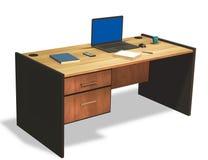 Το lap-top στο γραφείο γραφείων τρισδιάστατο δίνει διανυσματική απεικόνιση