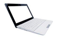 το lap-top υπολογιστών χρώματος άνοιξε το λευκό Στοκ Εικόνες