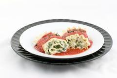 το lasagna όχι κυλά γιατί Στοκ Φωτογραφία