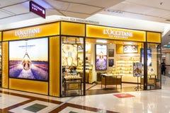 Το LOccitane, είναι διεθνής λιανοπωλητής του σώματος, του προσώπου, των fragrances και των εγχώριων προϊόντων που εδρεύουν σε Man στοκ φωτογραφία με δικαίωμα ελεύθερης χρήσης