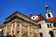 Το Loreta είναι ένας μεγάλος προορισμός προσκυνήματος σε HradÄ  οποιοιδήποτε, μια περιοχή της Πράγας, Δημοκρατία της Τσεχίας στοκ φωτογραφία