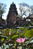 Το Lotus και ο ναός Στοκ φωτογραφία με δικαίωμα ελεύθερης χρήσης