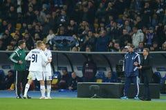 Το Lukasz Teodorczyk αντικατέστησε για Artem Kravets, κύκλος ένωσης UEFA Ευρώπη της δεύτερης αντιστοιχίας ποδιών 16 μεταξύ της δυ Στοκ Φωτογραφία