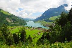 Το Lungerer βλέπει τη λίμνη στην Ελβετία Στοκ Φωτογραφίες