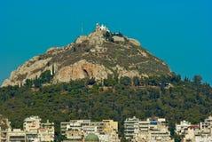 το lycabettus της Αθήνας Ελλάδα ε Στοκ εικόνες με δικαίωμα ελεύθερης χρήσης