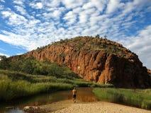 Το MacDonnell κυμαίνεται το εθνικό πάρκο, Βόρεια Περιοχή, Αυστραλία Στοκ Εικόνες