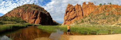 Το MacDonnell κυμαίνεται το εθνικό πάρκο, Βόρεια Περιοχή, Αυστραλία Στοκ φωτογραφίες με δικαίωμα ελεύθερης χρήσης