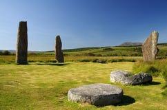 Το Machrie δένει τον κύκλο Arran πετρών  Σκωτία Στοκ Εικόνες