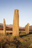 Το Machrie δένει τον πέτρινο κύκλο σε Arran στη Σκωτία Στοκ φωτογραφία με δικαίωμα ελεύθερης χρήσης