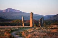 Το Machrie δένει τις μόνιμες πέτρες Στοκ φωτογραφία με δικαίωμα ελεύθερης χρήσης