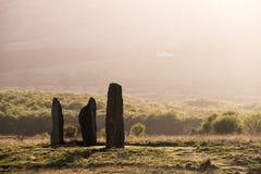 Το Machrie δένει τις μόνιμες πέτρες Στοκ εικόνες με δικαίωμα ελεύθερης χρήσης