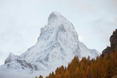 Το Matterhorn, Ελβετία Στοκ Εικόνες