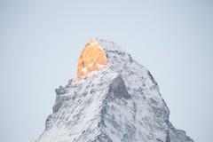 Το Matterhorn, Ελβετία Στοκ εικόνα με δικαίωμα ελεύθερης χρήσης