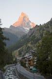 Το Matterhorn, Zermatt, Ελβετία στοκ εικόνες