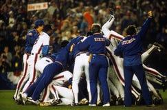 Το Mets κερδίζει την παγκόσμια σειρά του 1986 Στοκ Εικόνες