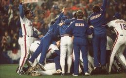 Το Mets κερδίζει την παγκόσμια σειρά του 1986 Στοκ εικόνες με δικαίωμα ελεύθερης χρήσης