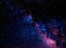 Το Milkway χρωματίζει τη νύχτα Στοκ Φωτογραφία