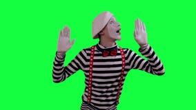 Το mime είναι πίσω από έναν αόρατο τοίχο απόθεμα βίντεο
