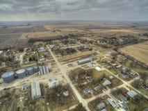 Το Modale είναι μια μικρή πόλη καλλιέργειας στην αγροτική Αϊόβα στοκ εικόνα με δικαίωμα ελεύθερης χρήσης