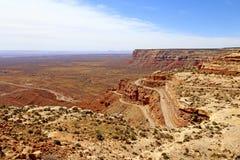 Το Moki Dugway Φαράγγια, έρημος στοκ εικόνα
