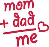 Το Mom και ο μπαμπάς είναι εγώ - μωρό Στοκ Φωτογραφία