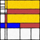 Το Mondrian ενέπνευσε ψηφιακά χρωματίζοντας 03 στοκ φωτογραφία