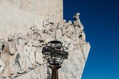 Το Monunent στις ανακαλύψεις στη Λισσαβώνα, Πορτογαλία στοκ εικόνες με δικαίωμα ελεύθερης χρήσης