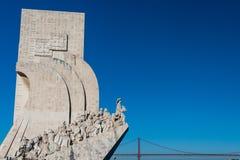 Το Monunent στις ανακαλύψεις στη Λισσαβώνα, Πορτογαλία στοκ φωτογραφία με δικαίωμα ελεύθερης χρήσης
