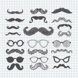Το Movember mustache έθεσε στοκ εικόνες
