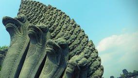 Το Naga, ένα αρχαίο γλυπτό σε Angkor Wat, Siem συγκεντρώνει, Καμπότζη Στοκ εικόνα με δικαίωμα ελεύθερης χρήσης