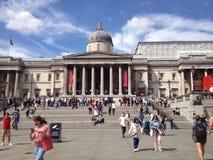 Το National Gallery, πλατεία Τραφάλγκαρ, Λονδίνο στοκ εικόνες με δικαίωμα ελεύθερης χρήσης