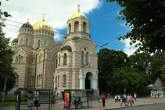 Το Nativity του καθεδρικού ναού Χριστού στη Ρήγα, Λετονία Στοκ φωτογραφίες με δικαίωμα ελεύθερης χρήσης