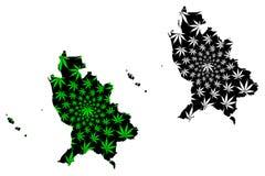 Το Nayarit ένωσε τα μεξικάνικα κράτη, ο χάρτης του Μεξικού είναι σχεδιασμένο φύλλο καννάβεων πράσινο και ο Μαύρος, ελεύθερος και  απεικόνιση αποθεμάτων