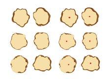 Το Nian Γκάο ή το κέικ του κινεζικού νέου έτους ή το κέικ έτους, Nian Γκάο είναι τρόφιμα που προετοιμάζονται από το κολλώδες ρύζι διανυσματική απεικόνιση