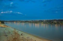 Το Nikon d5100 πυροβολείται, ποταμός φύσης σε Novi Sad Σερβία Στοκ Φωτογραφίες